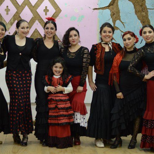 El taller de Flamenco de Espacio Santa Ana, realizó una presentación dando  conocer todo lo aprendido hasta el momento en clases.